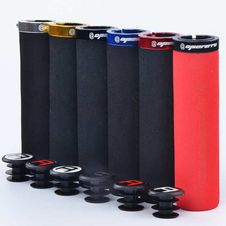@operate Grips Straight Ergonomic MTB Mountain Bike Bicycle High Density Foam Handlebar Sponge  Grips Flat FX333