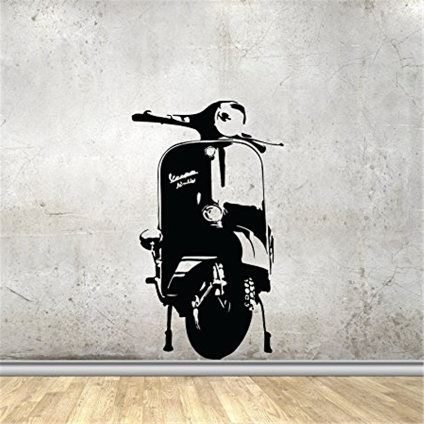 Wall decal scooter bicycle motorcycle Art Decor Home Decor Removable Vinyl Wall Decals Nursery Kids Room Wall Sticker 3035
