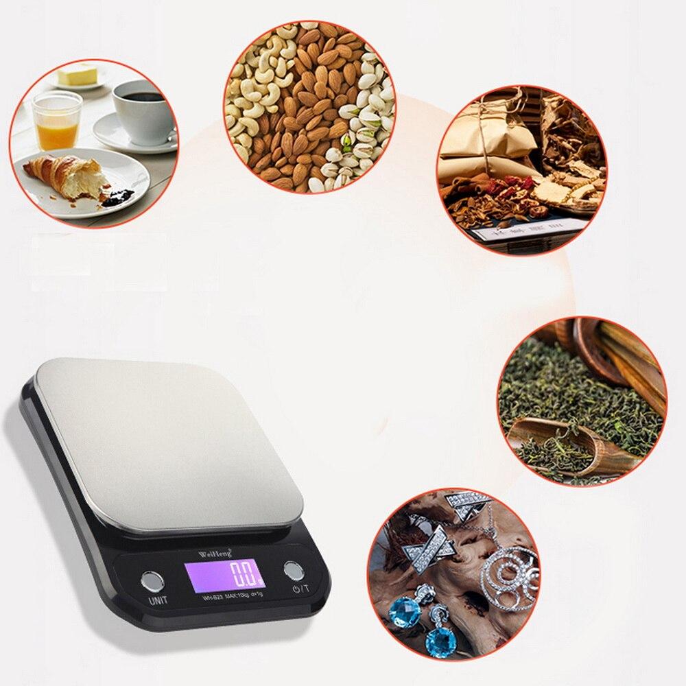 10 кг/1 г кг/3 кг/5 кг/0,1 г цифровые весы Точность светодиодный Портативный электронный Кухня весы Еда весы измерительная Вес весы-3