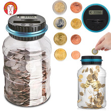 Piggy Bank For Kids Counter Coin Box Toys Electronic Digital LCD Adult Money Saving Box Counting Coins Jar Storage EURO Money