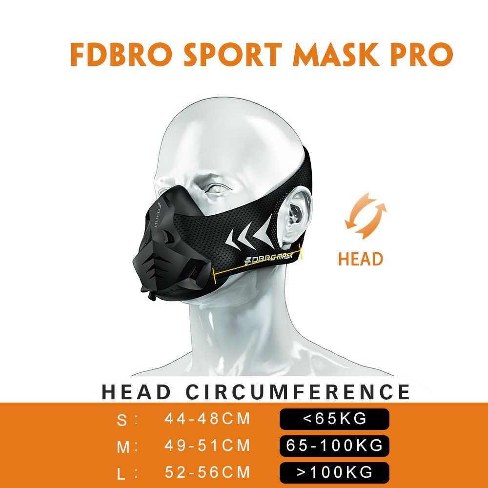 Fdbro pro esporte novo correndo máscara de treinamento esportes máscara 3.0 para correr fitness workout resistência elevação cardio resistência etc.