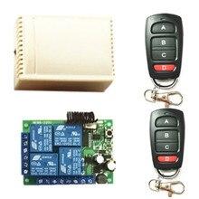 433MHZ.EV1527 Learning Remote Control. AC85V 250V 220V 4 Channel Receiver Switch. Used for Garage Doors. Electric light