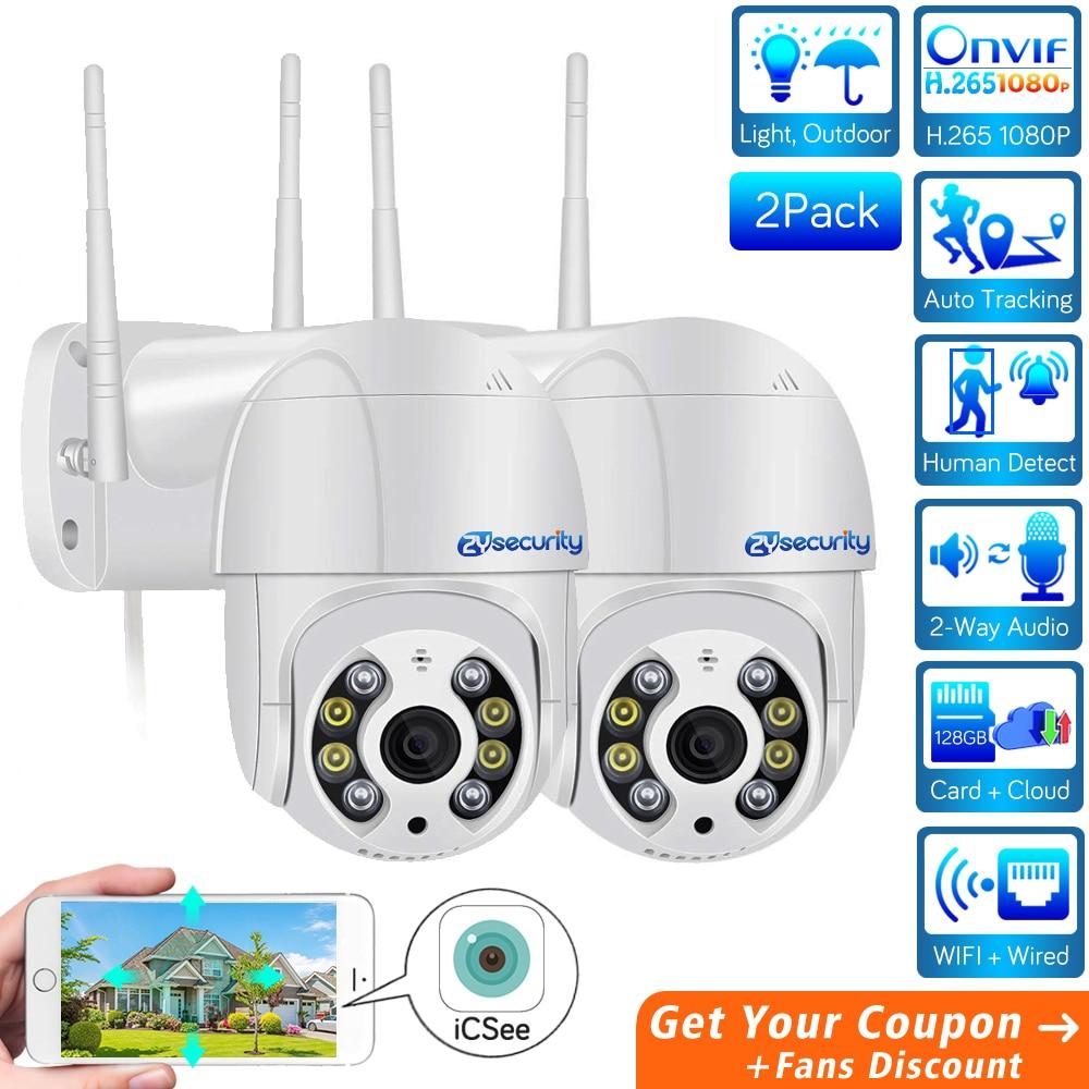 H.265 1080P Mini WiFi PTZ Camera IP Outdoor Audio Cloud Onvif AI Human Detect Auto Tracking Wireless Speed Dome Camera CCTV ICSe