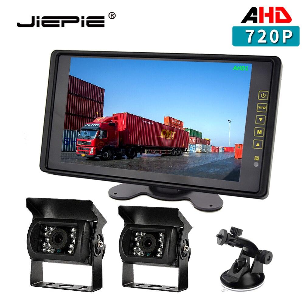 AHD Rear View Camera Kit 9   720P Rear View Monitor IPS Screen with IP68 Waterproof AHD Rear View Backup Camera for Truck Bus