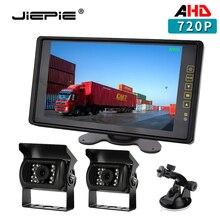 Zestaw do nagrywania wideo z tyłu AHD 9 720P Monitor widoku z tyłu ekran IPS z IP68 wodoodporna kamera cofania AHD z tyłu dla autobusu ciężarowego