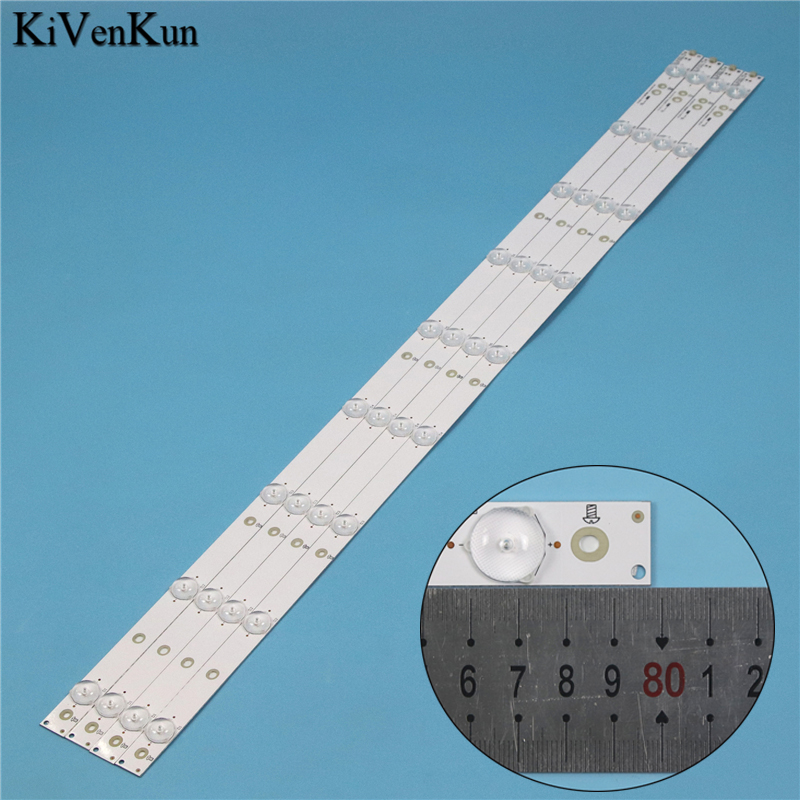 LED Backlight Strips For Philips 40PFT5300/12 40PFT4509/60 40PFT5300/60 Bars GJ-DLEDII P5-400-D409-V7 Bands Rulers 2K15-D2P5-395