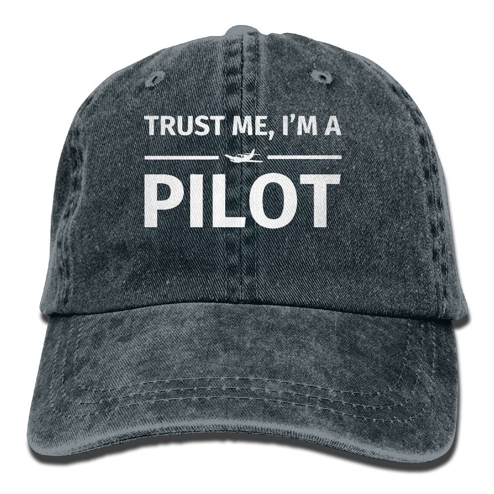 Trust Me I'm A Pilot Trend Printing Cowboy Hat Fashion Baseball Cap For Men And Women Navy Selected Material
