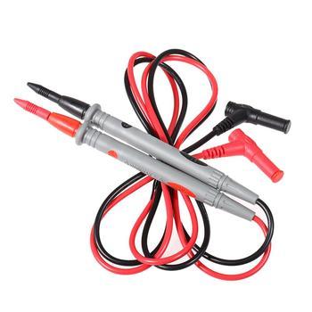 1 para multimetr przewody pomiarowe uniwersalne sondy Cooper przewody przewody pomiarowe drut kabel sondy Pin dla cyfrowy miernik uniwersalny 20A tanie i dobre opinie alloet Elektryczne CN (pochodzenie) Univeral Wyświetlacz cyfrowy
