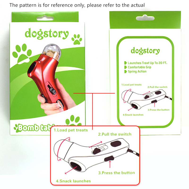 Dog Snack Catapult Launcher Dog Cat Treat Launcher Snack Food Feeder Catapult Pet Interactive Training Toys