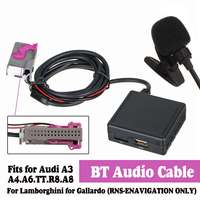 HIFI Audio Auto bluetooth 5.0 Modulo AUX Cavo del Microfono Adattatore Radio Stereo per Audi A3 A4 A6 A8 TT R8 per RNS-E CD Unità