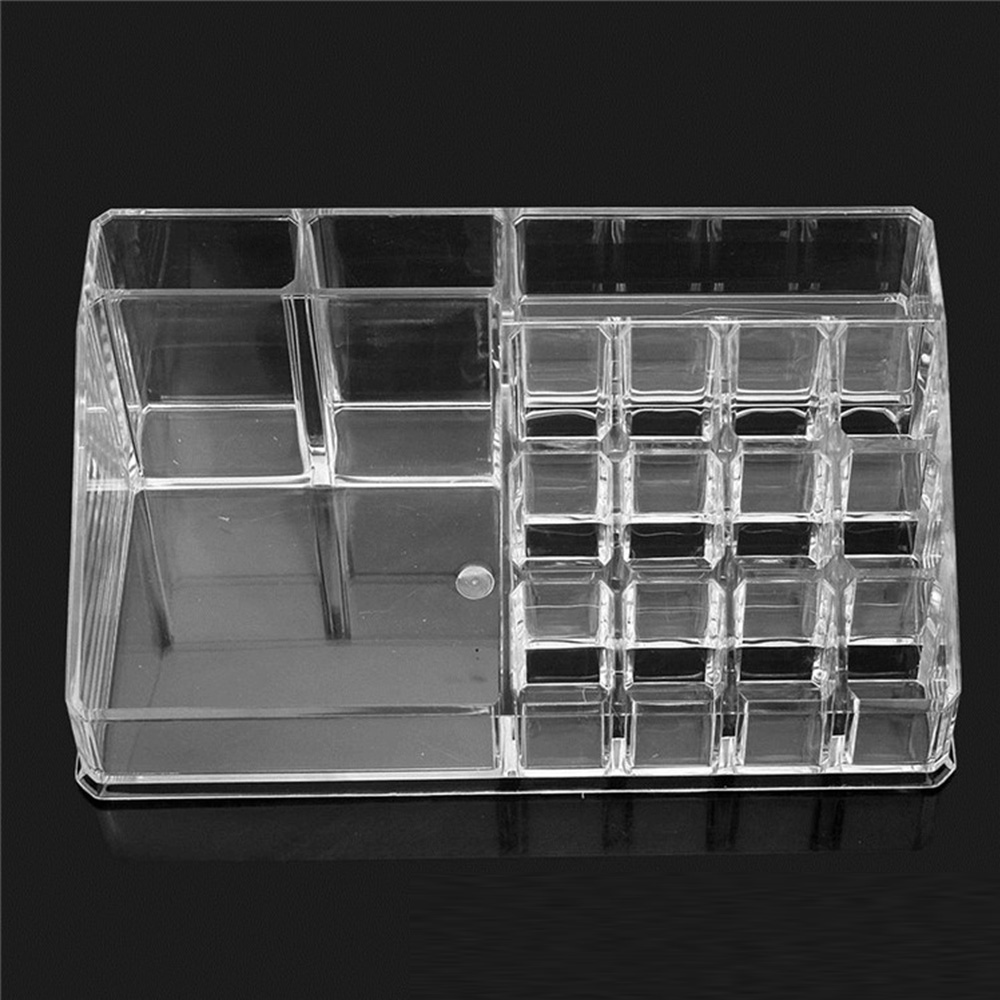 Multiple Grid Acrylic Transparent Makeup Organizer Storage Boxes Make Up Organizer Lipstick Holder Jewelry Box Display Stand