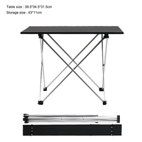 Camping Table Aluminum Alloy Folding Camping Table Roll Top Lightweight Portable Stable Versatile Picnic Tables|Outdoor Tools|Sports & Entertainment -