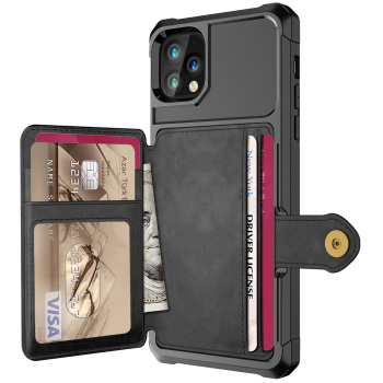 Luxury PU Leather Wallet Case for iPhone 11 12 Pro Max iPhone 12 Mini Cases Wallet Flip Cover Buckle for iPhone Phone 12 Fundas