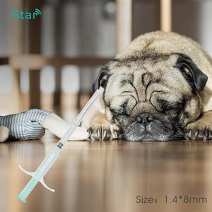 Image 4 - (60 adet) 1.4*8mm Hayvan Mikroçip RFID transponder Iso11784 fdx b 134.2khz LF kedi köpek künyeleri pet şırınga kedi vet barınak kullanımı
