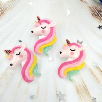 10pcs/lot flatback resin unicorn cabochons kawaii planar  Decoration Charm Craft DIY Hair Ornament Accessories 50pcs lots cute fly horse flat back resin diy craft supplies for bow center decoration unicorn button earring jewelry ornament