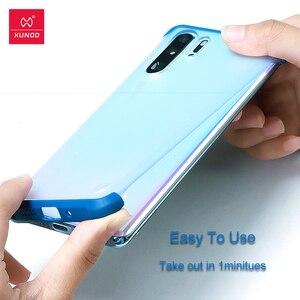 Image 4 - Xundd Telefon Fall Für Huawei P30 Pro Fall Airbag Stoßstange Schutzhülle Cases Matte Unframed Abdeckung Glas Für Huawei P30 Pro abdeckung