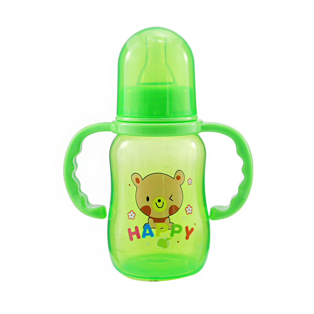 New Cute Baby Newborn Nursing Nipple Bottle Safety PP Pacifier Milk Water Bottles Children Infant Feeding 150ml For Baby