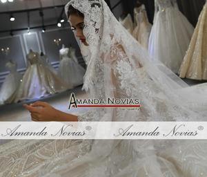 Image 3 - Mariage robe de mariee 2020 mangas compridas pesadas miçangas vestido de noiva de luxo