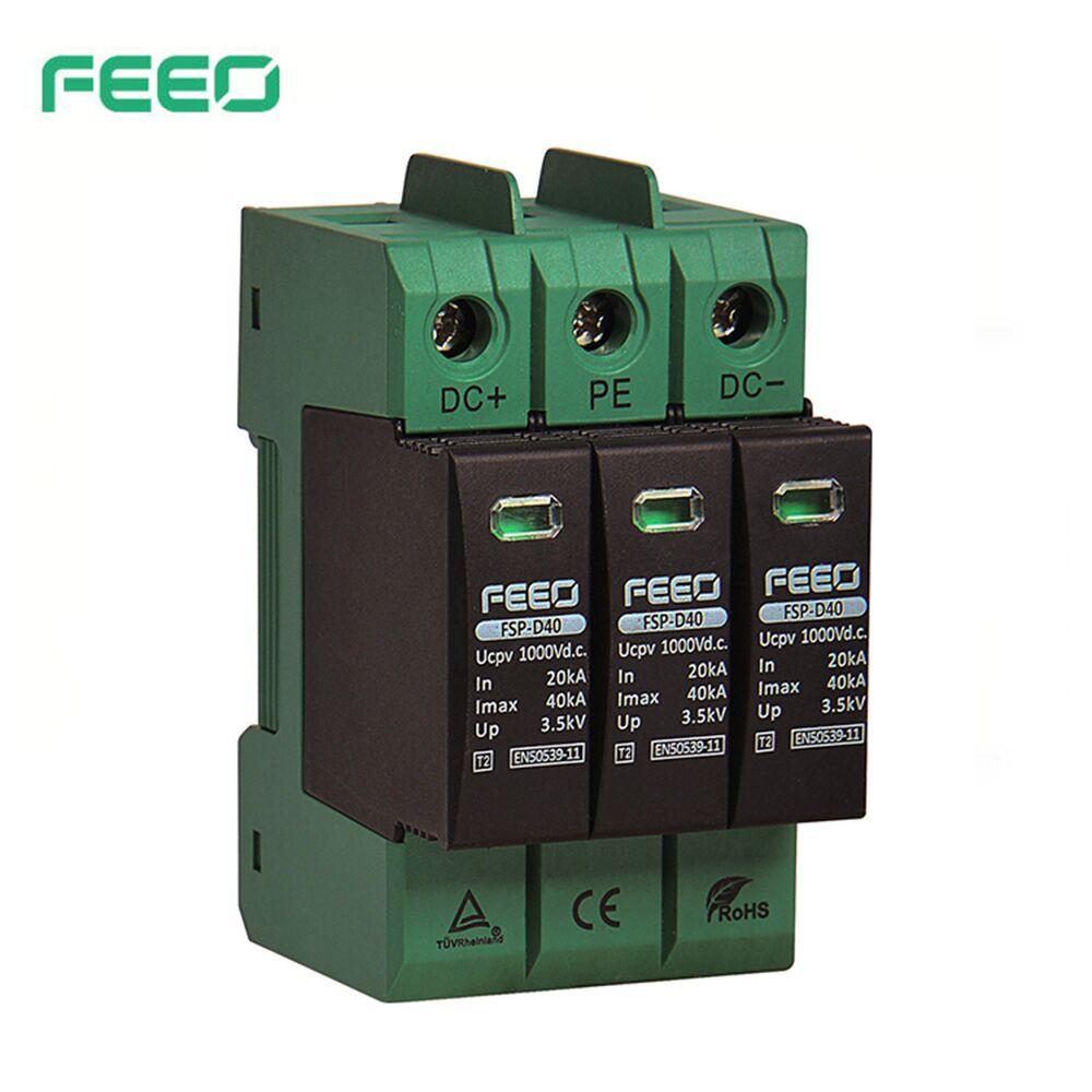FEEO SPD DC 3P 1500V 20KA~40KA House Surge Protector Protective Low voltage Arrester Device TUV & CE Certificate