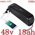 48 В литиевая батарея для использования sanyo cell 48V 17ah 17.5ah 18ah батарея для электрического велосипеда 48v 500W 750W BBS02 1000W BBSHD bafang motor