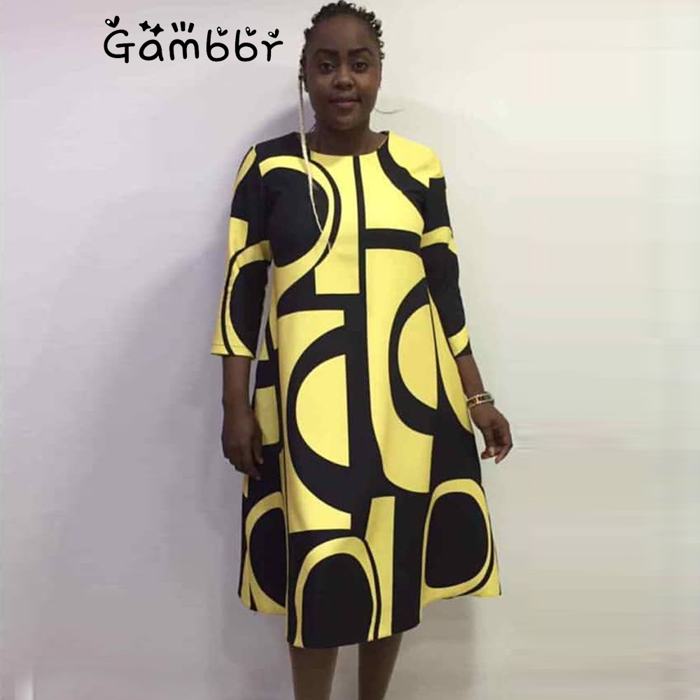 2019 New Fashion Traditional African Print Design Bazin Half Sleeve Dashiki Dress For Lady Plus Size 3XL Women Clothing Elegant