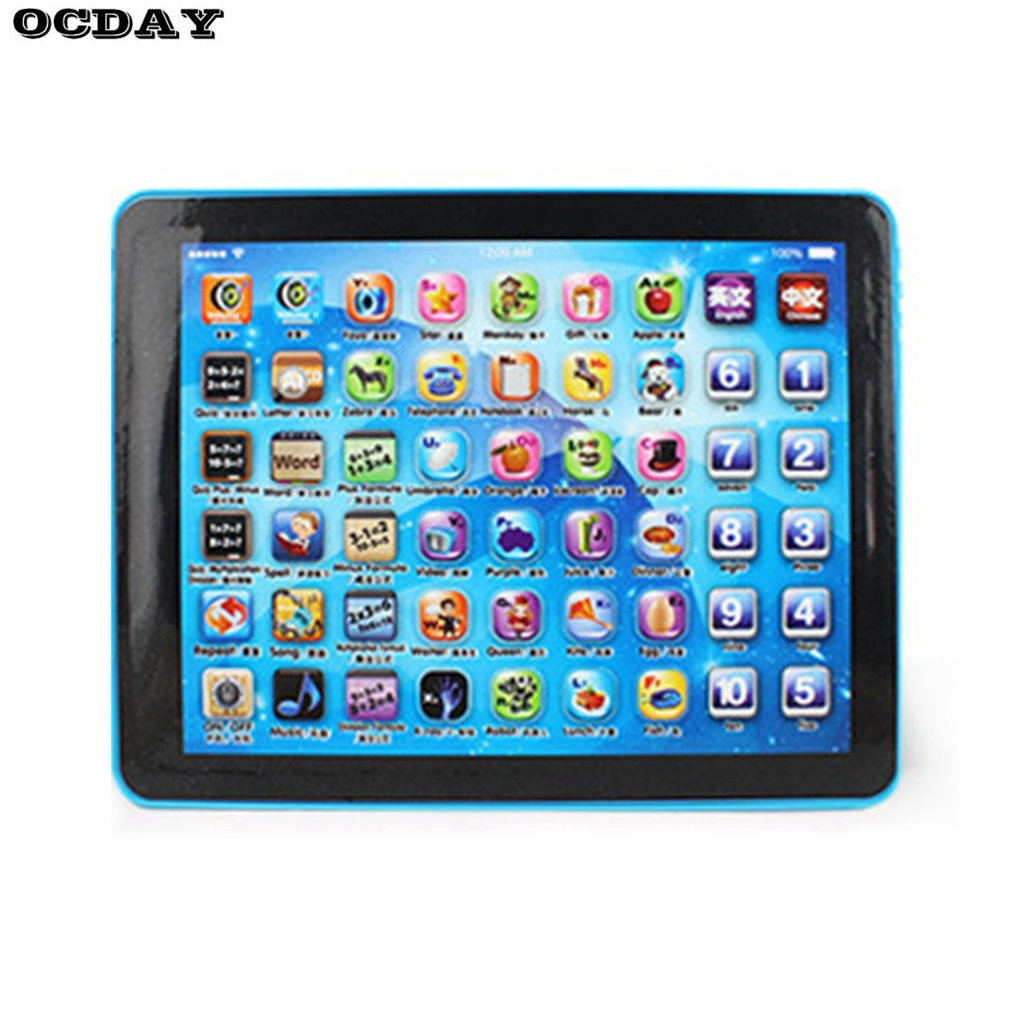 Simulating Tablet Pad for Kids Children English Chinese Learning Educational Toy