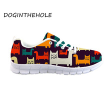 Hot Sale Women's Casual Shoes Cute Animals 3D Design Ladies Flat Bottom Shoes Breathable Walking Shoes Chunky Sneakers natural leather women s shoes 2018 handmade strap female flat shoes embroider latest design hot sale ladies shoes