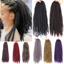 """14""""20""""Synthetic Afro Puff Marley Braids Hair Daily Life Crochet Kinky Curly Hair Wonder Lady Hair Extensions NewFashionFor Women cheap TREND WAY High Temperature Fiber CN(Origin) 16strands pack Pure Color Gray Red Purple Marley Braiding Hair 20Inch 14inch Synthetic Soft Kinky Twist Hair"""