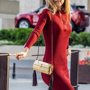 Image 5 - Butik De FGG siyah püskül kadınlar için Crossbody çanta 2020 yüksek kaliteli omuz çantası bayanlar tasarımcı akrilik kutu el çantası