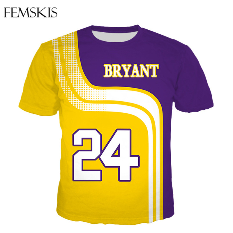 FEMSKIS Fashion Bryant Gigi 3D Print Men Women T-shirt Sweatshirt Hoodies Basketball Stars Harajuku Casual Hip Hop Tops title=