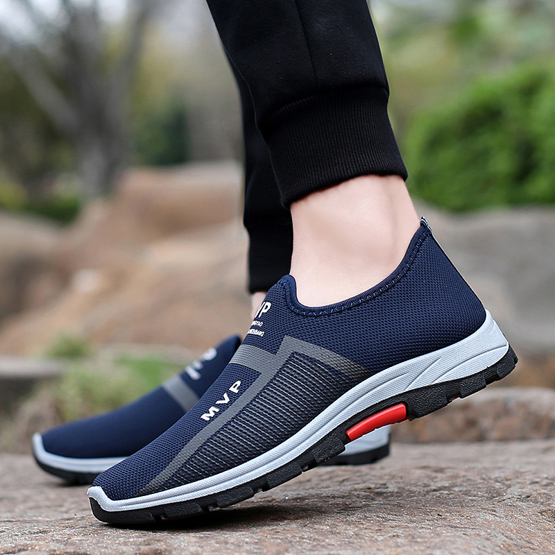Outdoor Mens Shoes Casual Lightweight Men Shoes Mesh Breathable Casual Shoes Men Sport Sneakers Male Slip On 2019 Hot Sale