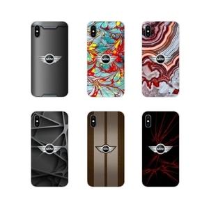 Dla Apple iPhone X XR XS MAX 4 4S 5 5S 5C SE 6 6S 7 8 Plus ipod touch 5 6 Mini Cooper czarny czerwony inspirowane silikonowe etui na telefon