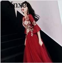 Женское элегантное платье с вышивкой плиссированное для вечевечерние