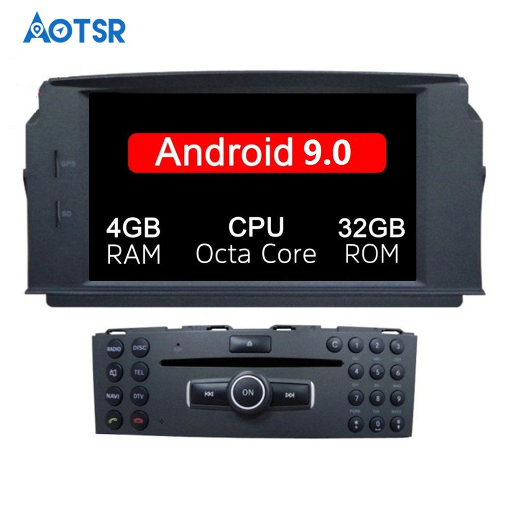 Android 9.0 car dvd player For MERCEDES BENZ C Class <font><b>C200</b></font> C180 C220 C230 W204 Video Car GPS radio headunit tape recorder auto image