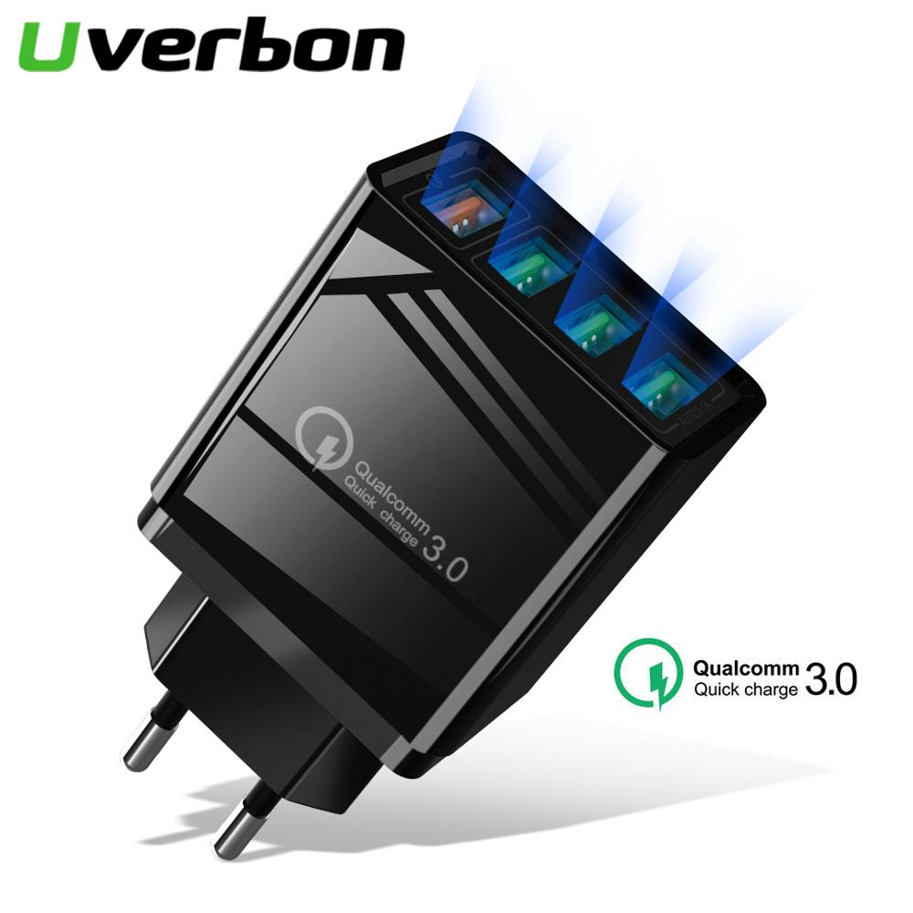 Mobile-Phone-Charging-Adapter Head Quick-Charger Cellphone Wall-Fast Samsung USB 4