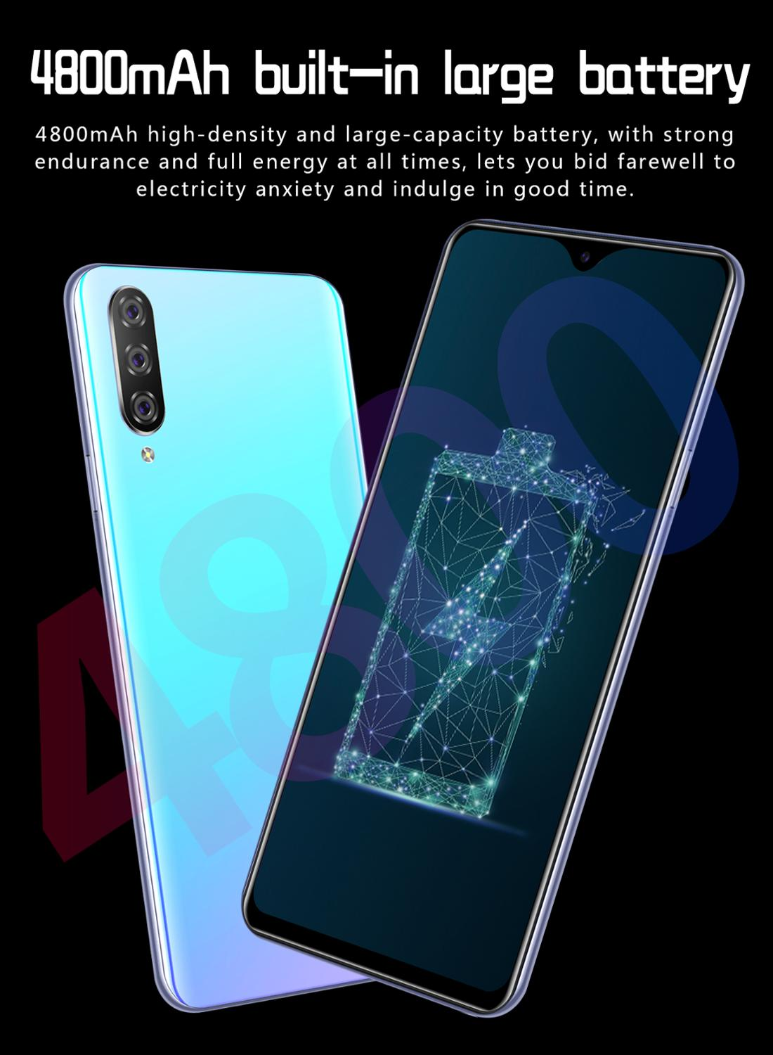 Image 5 - Smartphone M9 Cellphones 6GB+128GB 10 core Android 9.1 Fingerprint Face Unlock Dual Camera 4G Smart Mobile Cell Phone