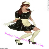 Sexy Latex Uniform Rubber Maid Cosplay Costumes with Gloves&Socks for Club Wear halloween cosplay costumes for women sexy
