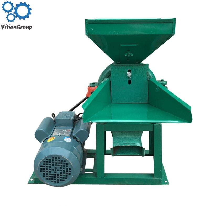 Electric Whole Grains Crusher Corn Feed Rice Bean Ultrafine Herbs Medicine Food Mill Powder Grinding Machine Machine With Moto