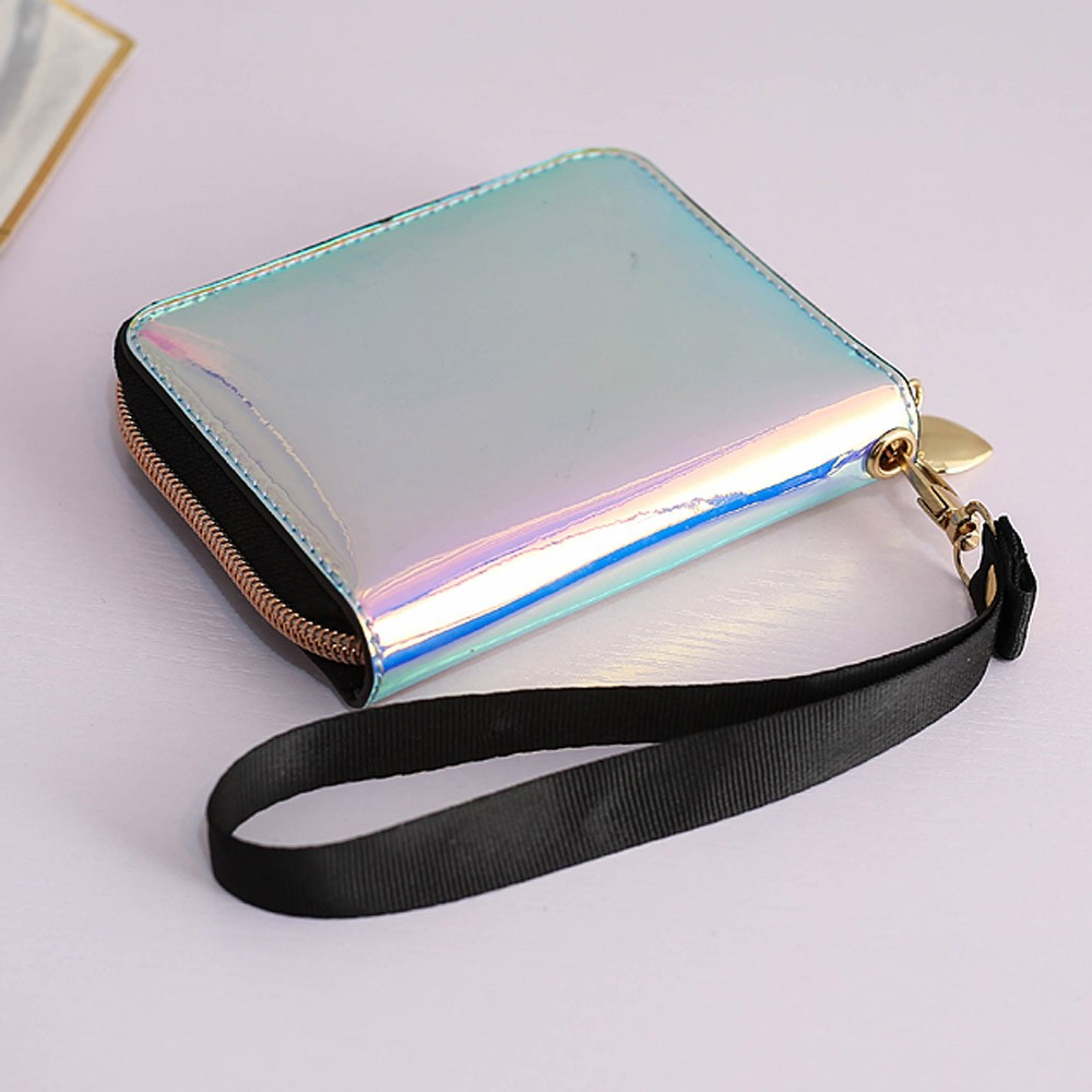 Women Short Wallet Clutch Laser Wallet Fashion Variable Color Card Holder Purse Wallet Fashion Variable Color Card Purse A40#