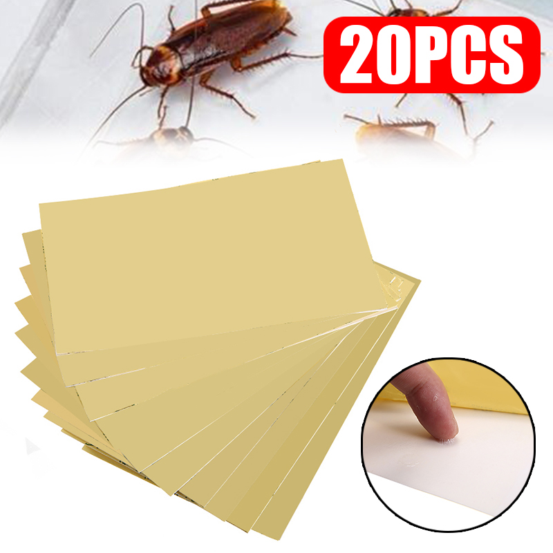 20pcs/set Home Cockroach Glue Trap Strong Adhesive Glue Bugs Sticky Board For Home Office Restaurant Sticky Board