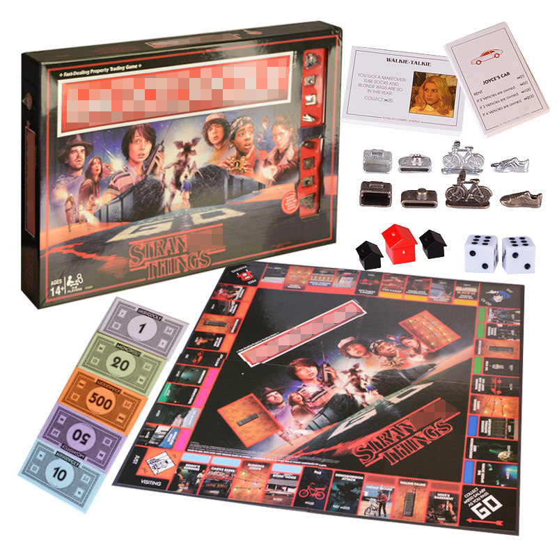 Stranger Things Monopoli Board Game Entertainment Card Game Puzzle Family Game for Children