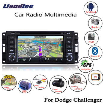 Liandlee For Dodge Challenger 2008~2014 Android Car Radio CD DVD Player GPS Navi Navigation Maps Camera OBD TV Screen Multimedia
