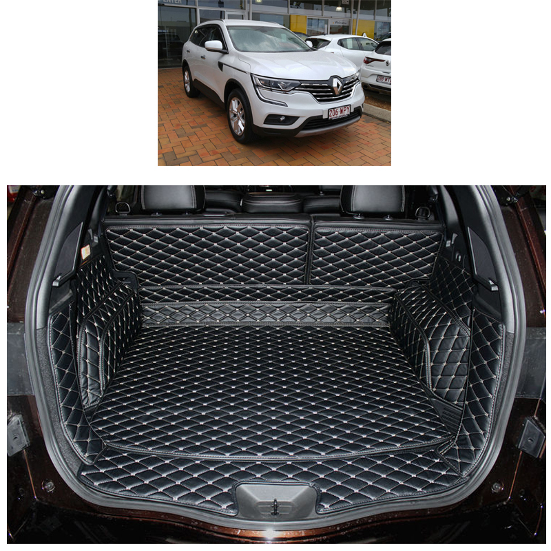 Lsrtw2017 For Renault Koleos Samsung QM6 Car Trunk Mat  2016 2017 2018 2019 2020 Cargo Liner Luggage Rug Carpet Accessories