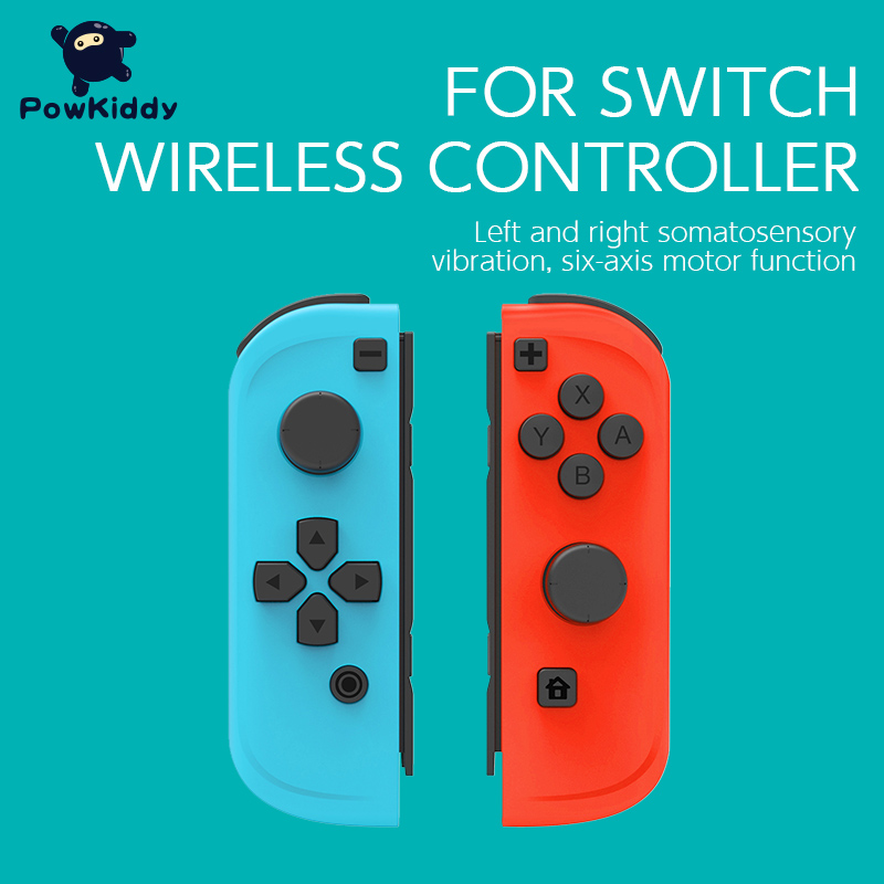 POWKIDDY 2pcs/Set Game Controller Handle For Switch Host Joy Gamepad Console Joypad Gamepad Video Game USB Joystick Control