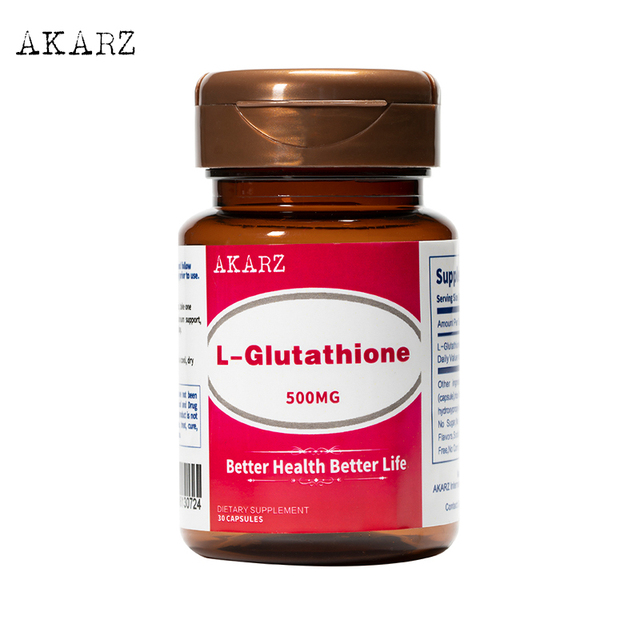 AKARZ Famous brand L Glutathione  A Potent Antioxidant That Supports Immune Health 500mg
