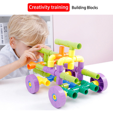 Water pipe building blocks toy inserting and assembling ABS material  diy kit