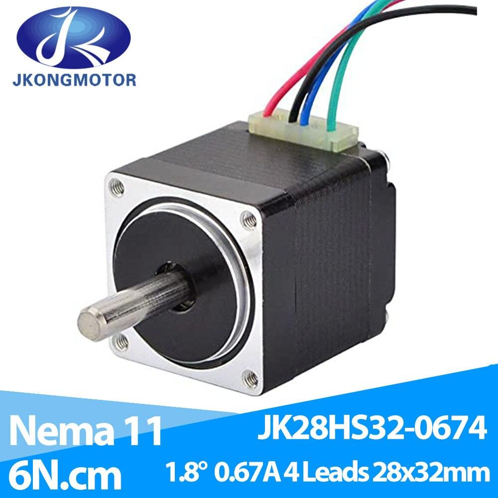 Шаговый двигатель Mini Nema 11 4-lead 1,8 deg 0.67A 6Ncm/8,5 oz-in 28x28x32mm для 3D-принтера DIY CNC XYZ