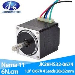 Mini Nema 11 Stepper Motor 4-lead 1.8 deg 0.67A 6Ncm/8.5oz-in 28x28x32mm for DIY 3D Printer CNC XYZ