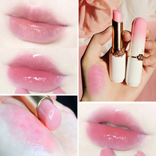 1 Pcs Vitality Color Lipstick Peach Girl Crystal Temperature Change Lip Balm Diminishes Lip Lines Color Change Lipstick TSLM1