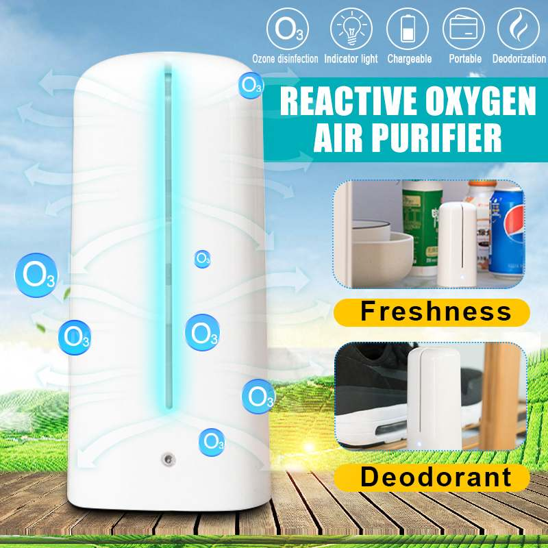 USB Portable Ozone Generator Ozonator ionizer O3 Air Purifiers Air Water Purify Fresh Vegetable Meat Deodorization Disinfection